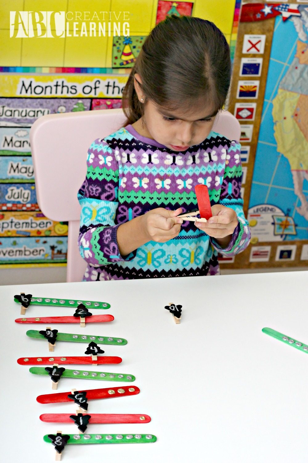 Christmas Tree Counting Activity homeschool