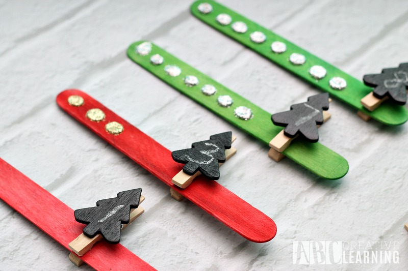 Christmas Tree Counting Activity pins