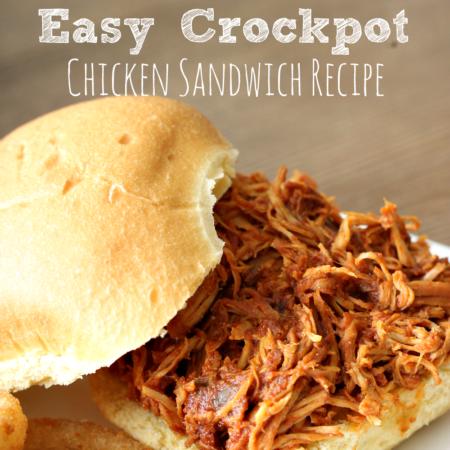 Easy Crockpot Chicken Sandwich