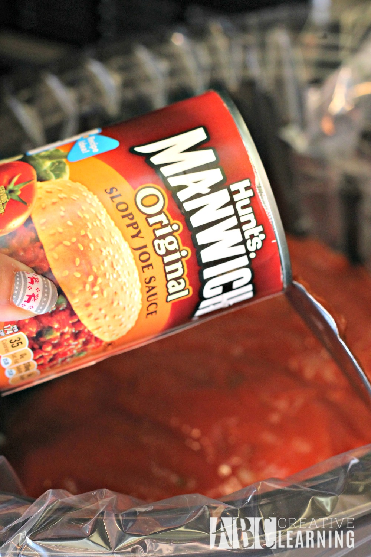 Easy Crockpot Chicken Sandwich sauce