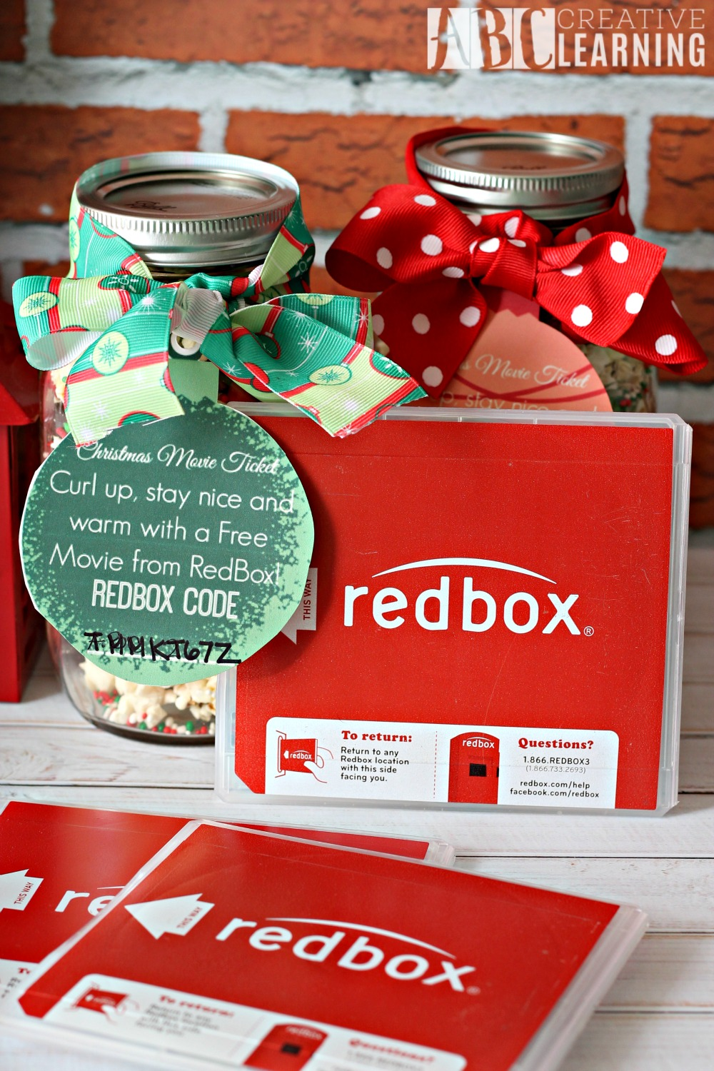 Holiday Popcorn Mason Jar Treat Redbox
