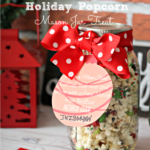 Holiday Popcorn Mason Jar Treat