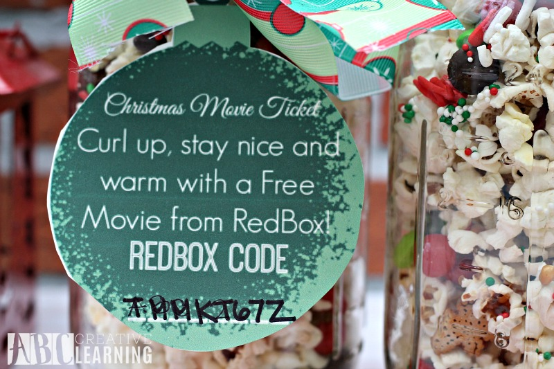 Holiday Popcorn Mason Jar Treat tag