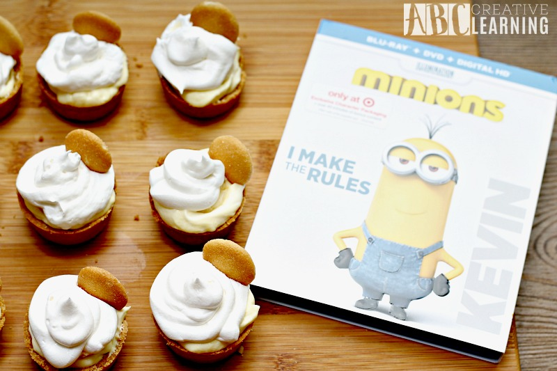Mini Banana Cream Pie Minions Recipe