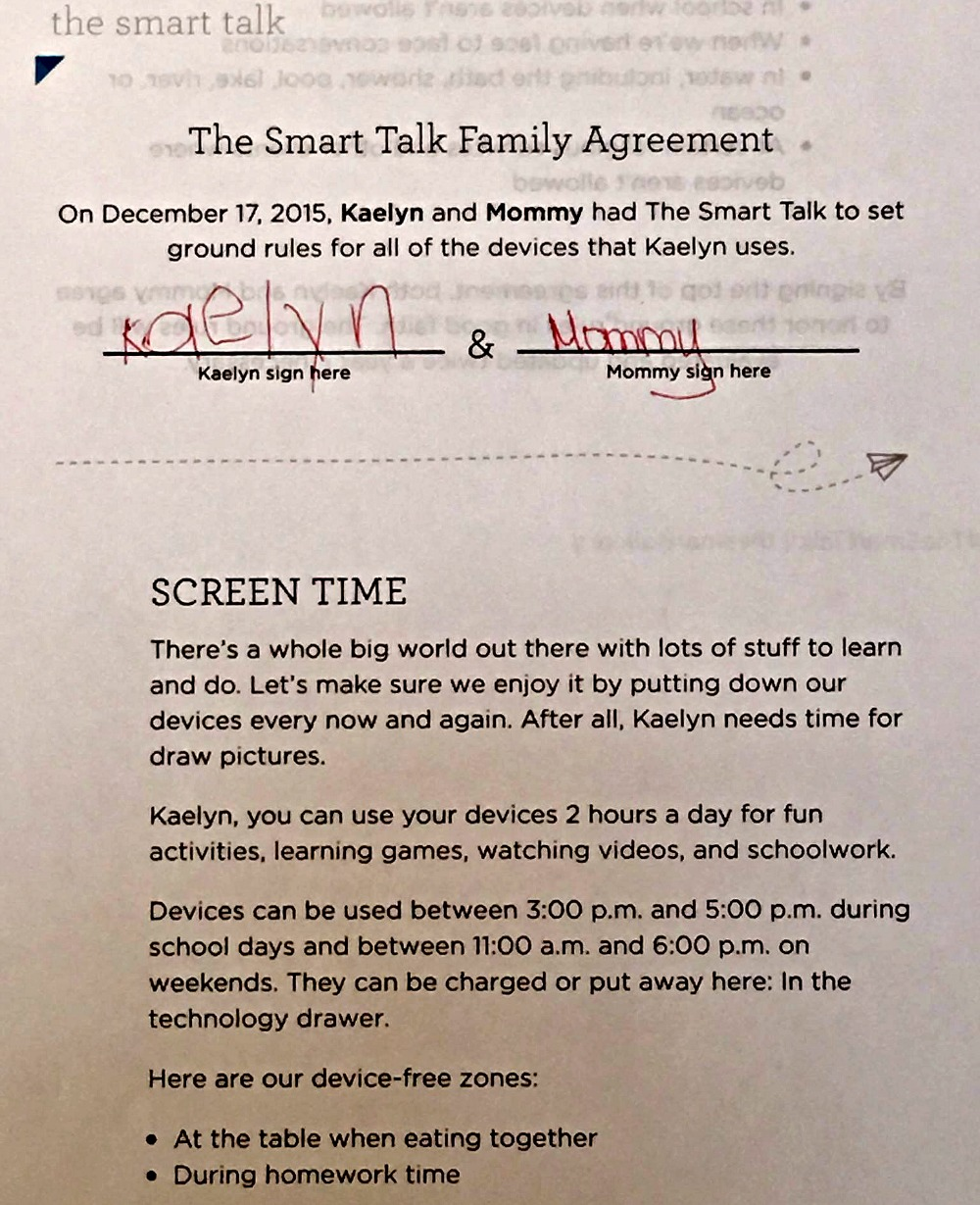 Talking Technology With Your Kids Contract