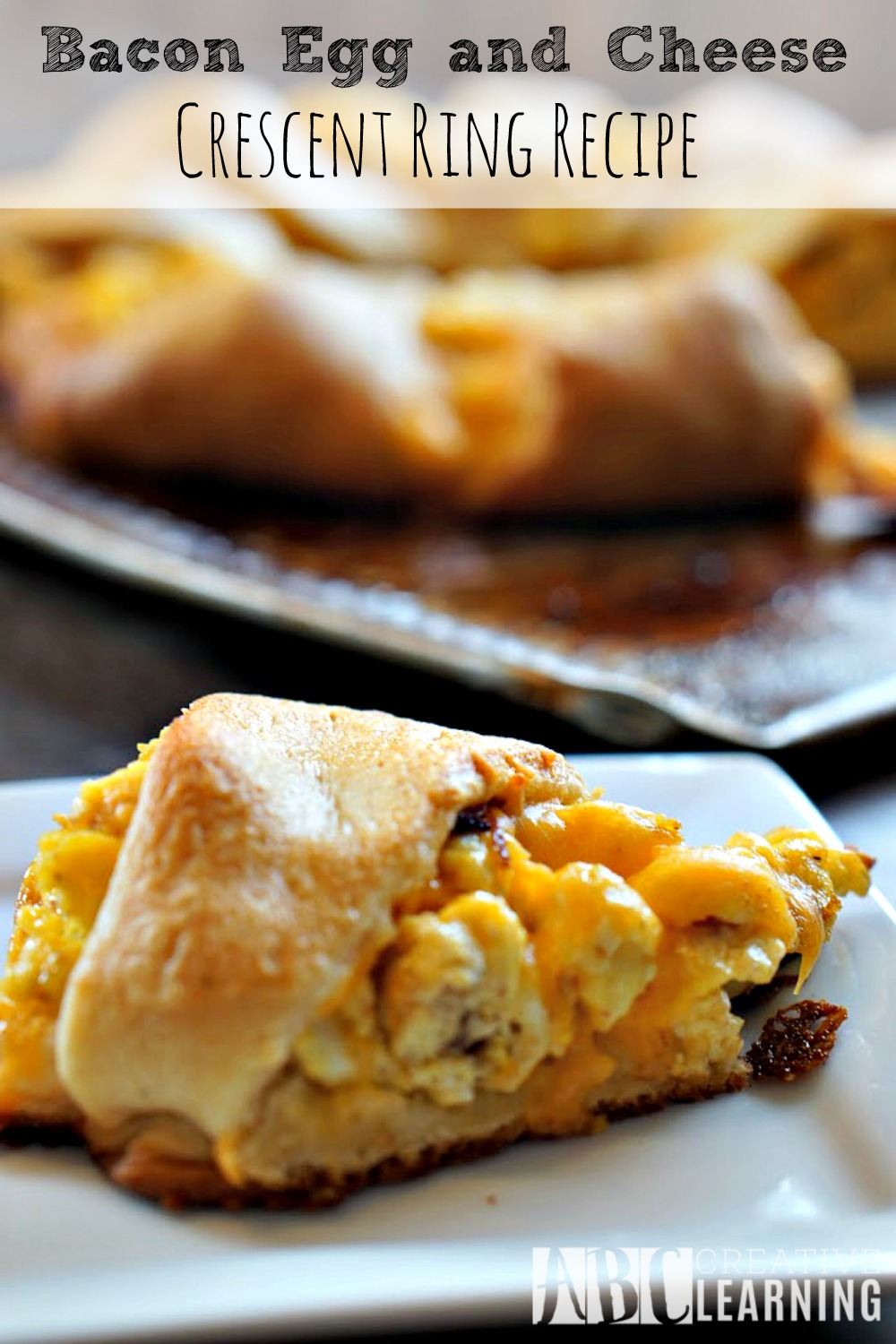 Bacon, Egg, and Cheese Crescent Ring Recipe