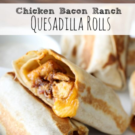 Chicken Bacon Ranch Quesadilla Rolls
