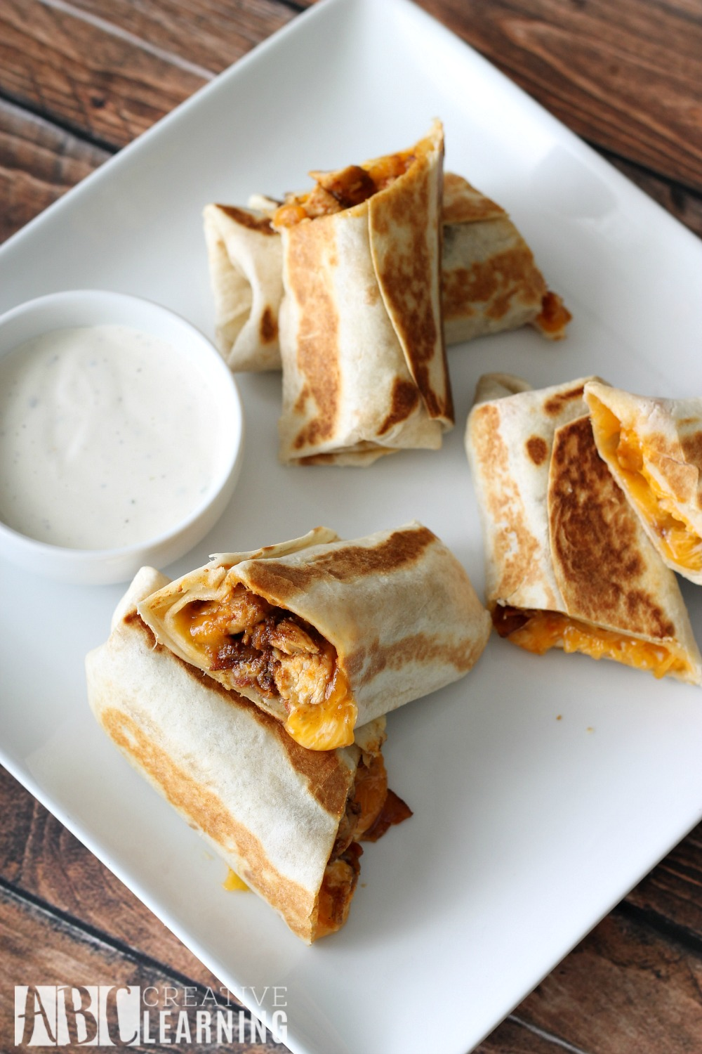 Chicken Bacon Ranch Quesadilla Rolls Naturally Fresh Ranch