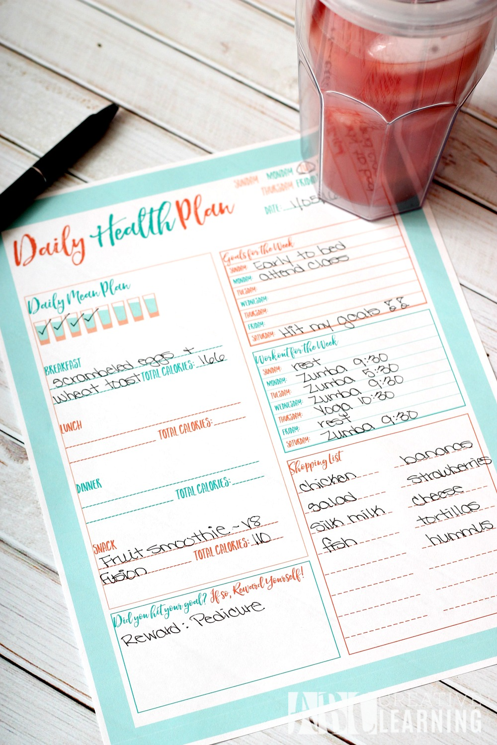 Daily Health Plan Free