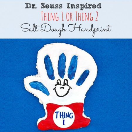 Dr. Seuss Inspired Thing 1 Or Thing 2 Salt Dough Handprint