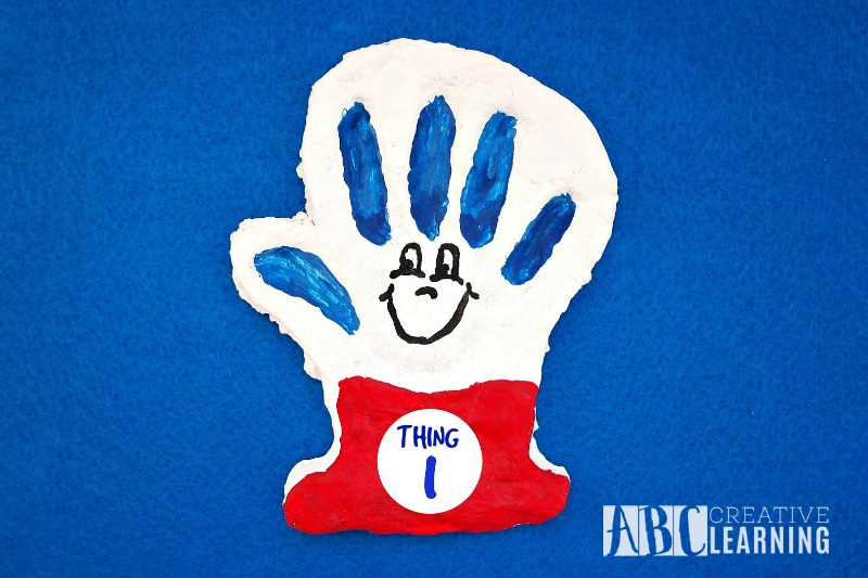 Dr. Seuss Inspired Thing 1 Or Thing 2 Salt Dough Handprint3