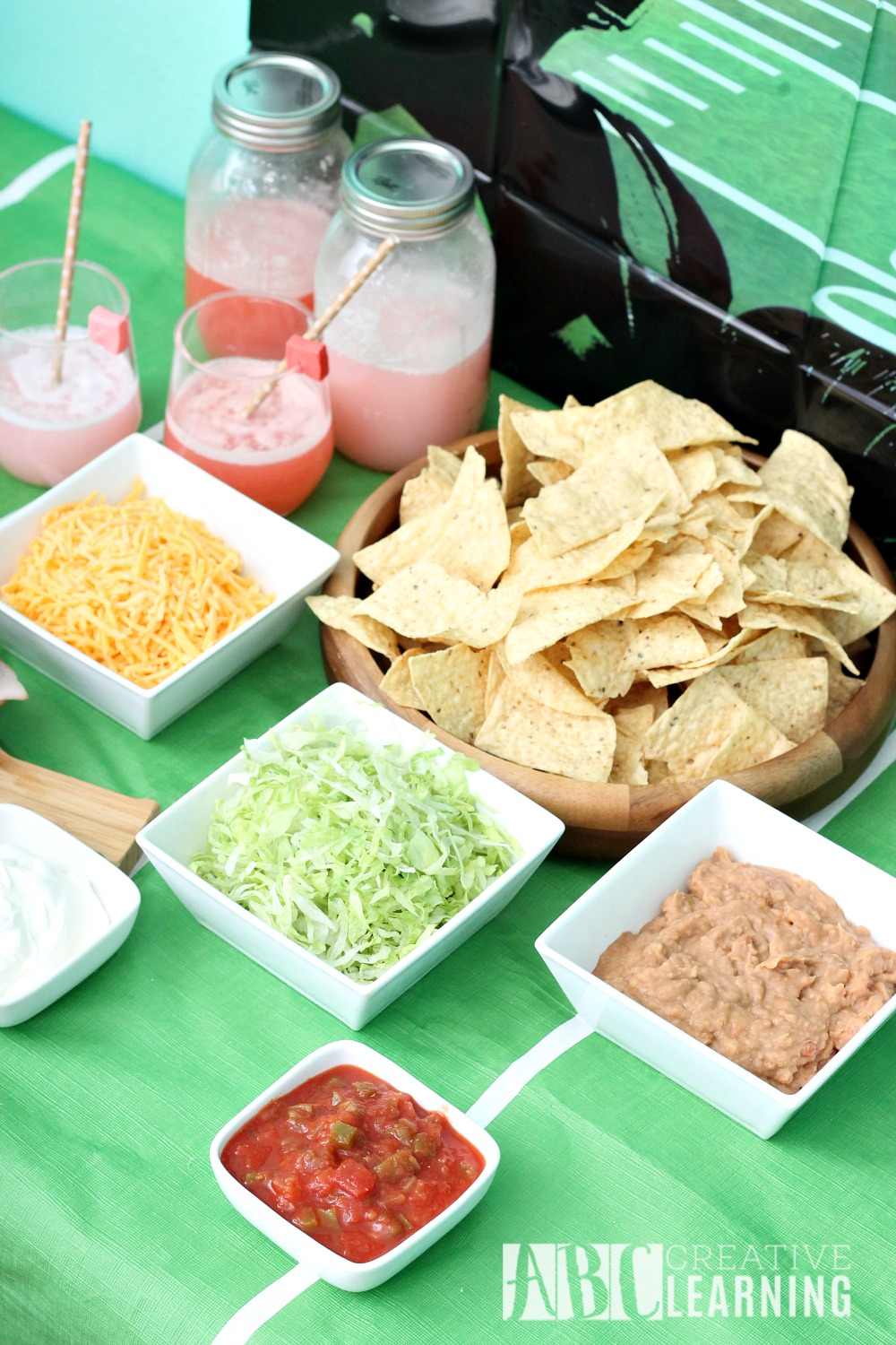 Family Friendly Themed Football Party Nachos Bar