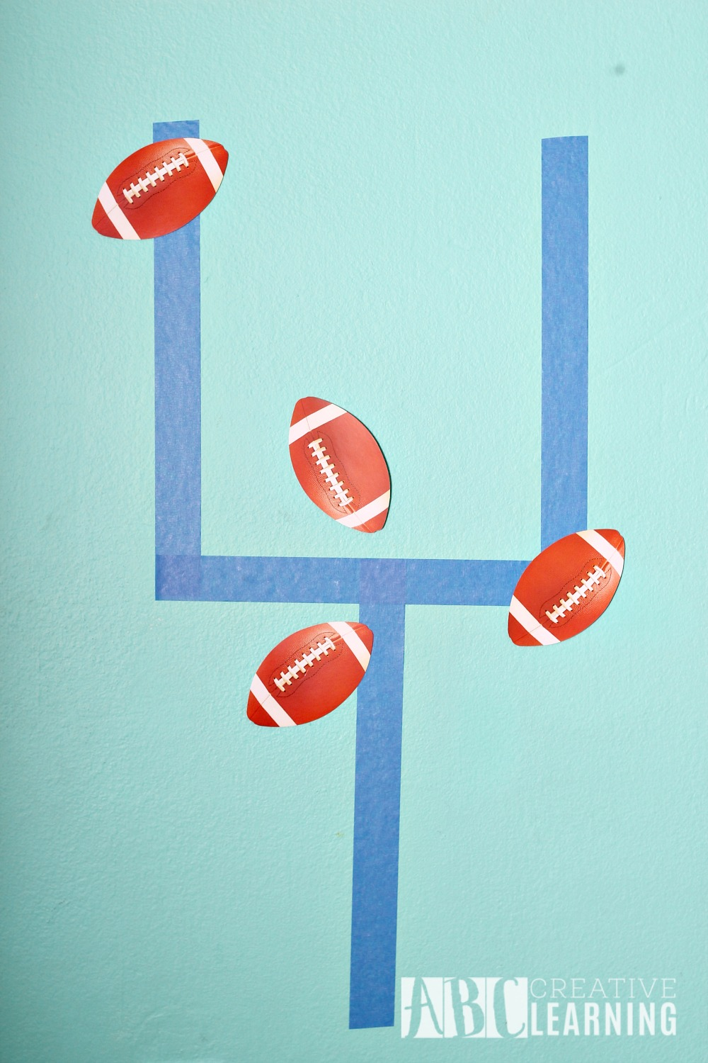 Family Friendly Themed Football Party Pin the Football on the Goal