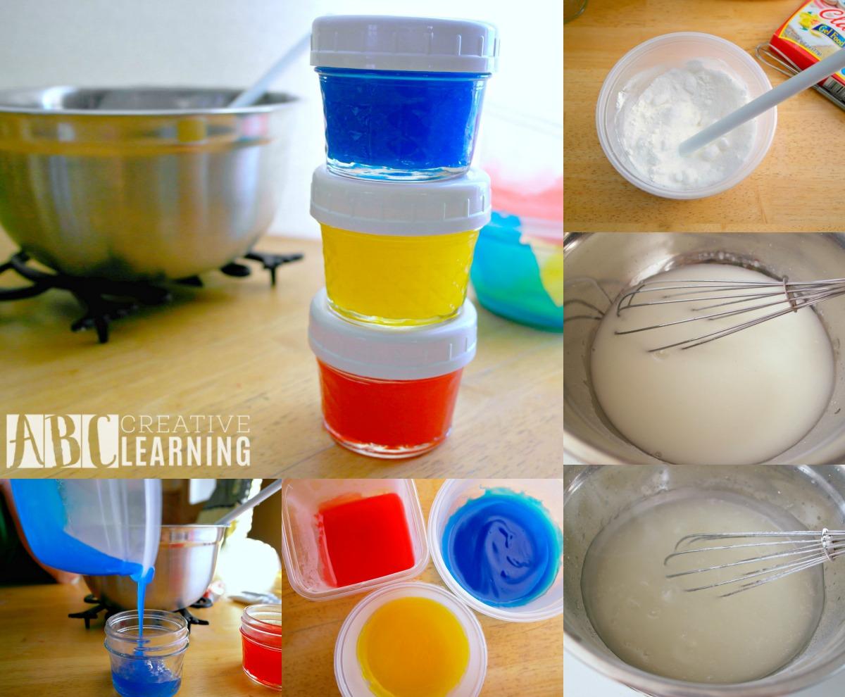 Homemade Finger Paint process photos