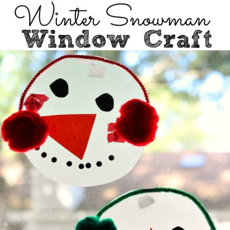 Snowman Window Craft