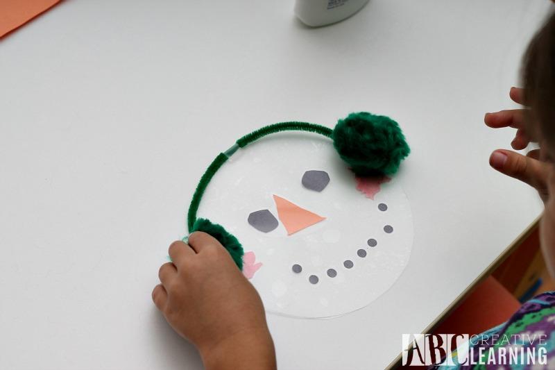 Snowman Window Craft ear muffs