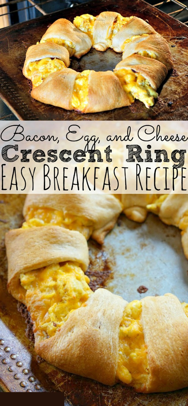 The Best Bacon Egg and Cheese Crescent Ring Recipe