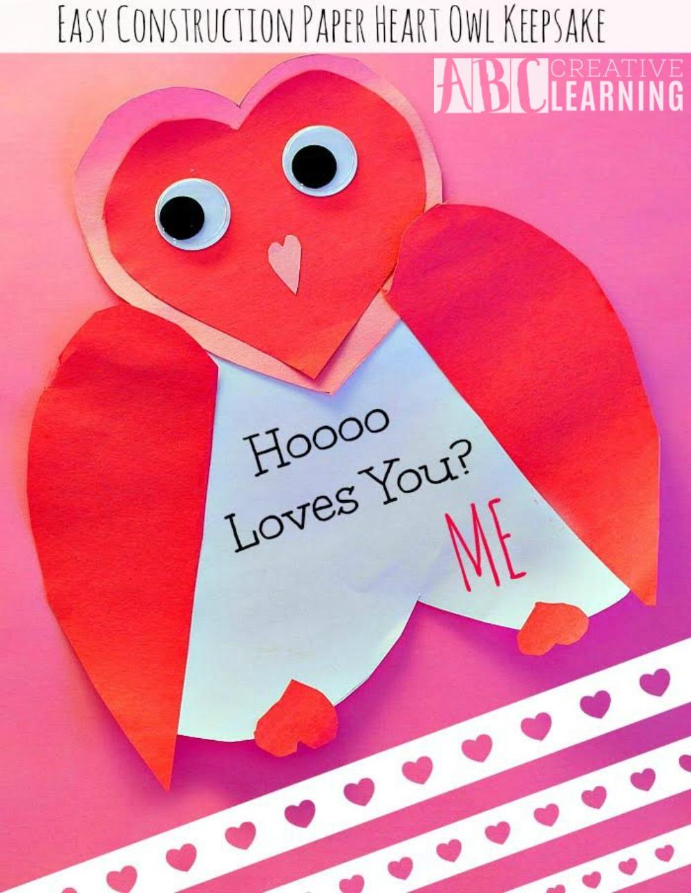 Valentine Heart Owl Keepsake 1