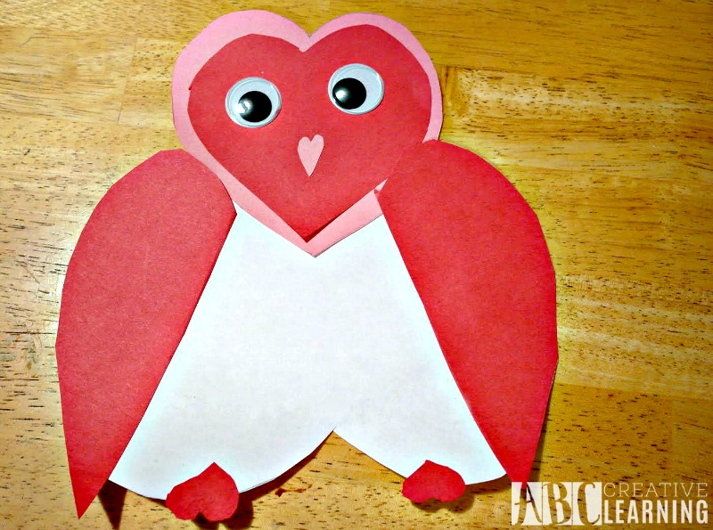 Valentine Heart Owl Keepsake pieces
