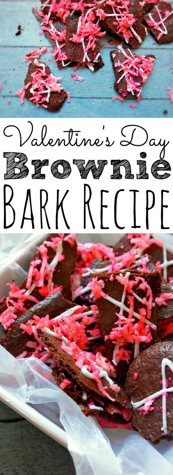 Valentine's Day Brownie Bark Recipe - simplytodaylife.com