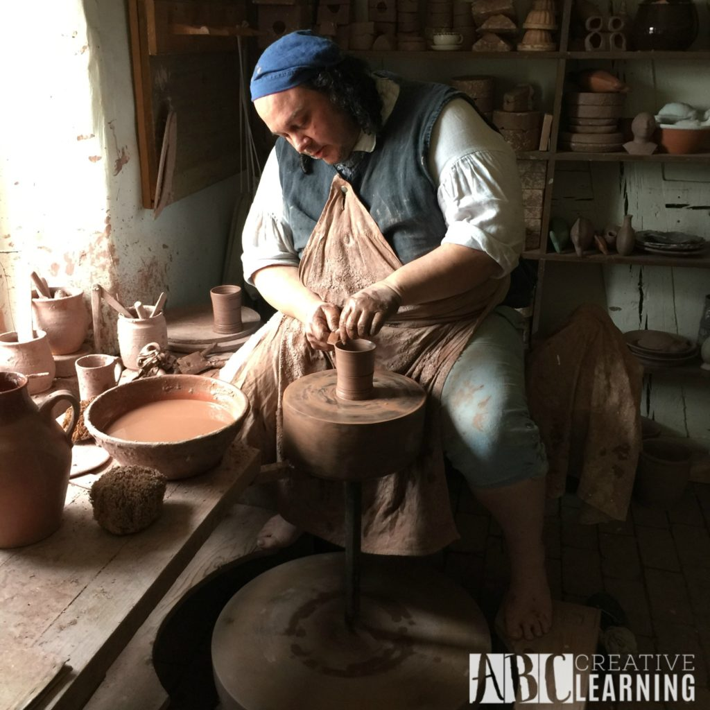 Visiting Old Salem Museums & Gardens in NC pottery