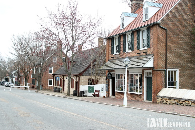 Visiting Old Salem Museums & Gardens in NC street