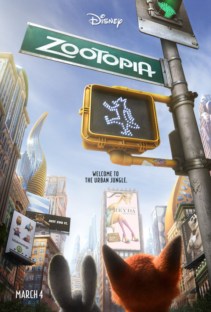 2016 Disney Movies and Trailers Zootopia