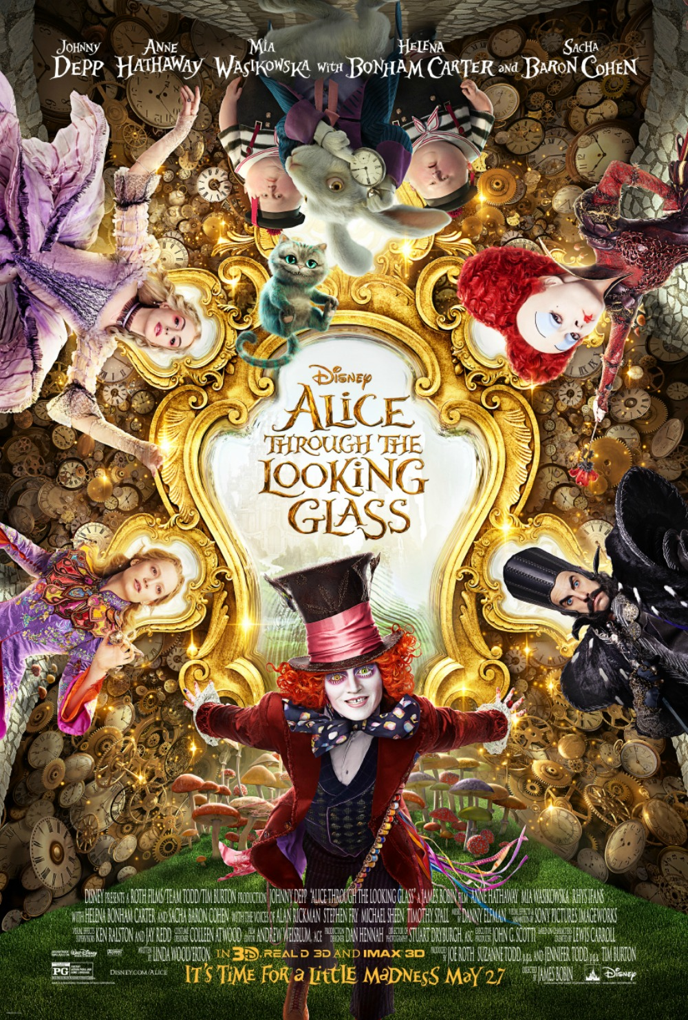 Alice Through The Looking Glass and Pink #DisneyAlice