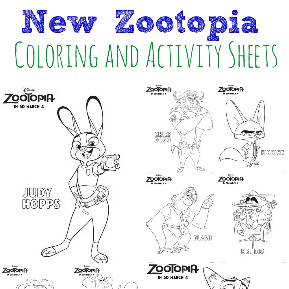 new zootopia coloring and activity sheets abc creative learning. Black Bedroom Furniture Sets. Home Design Ideas