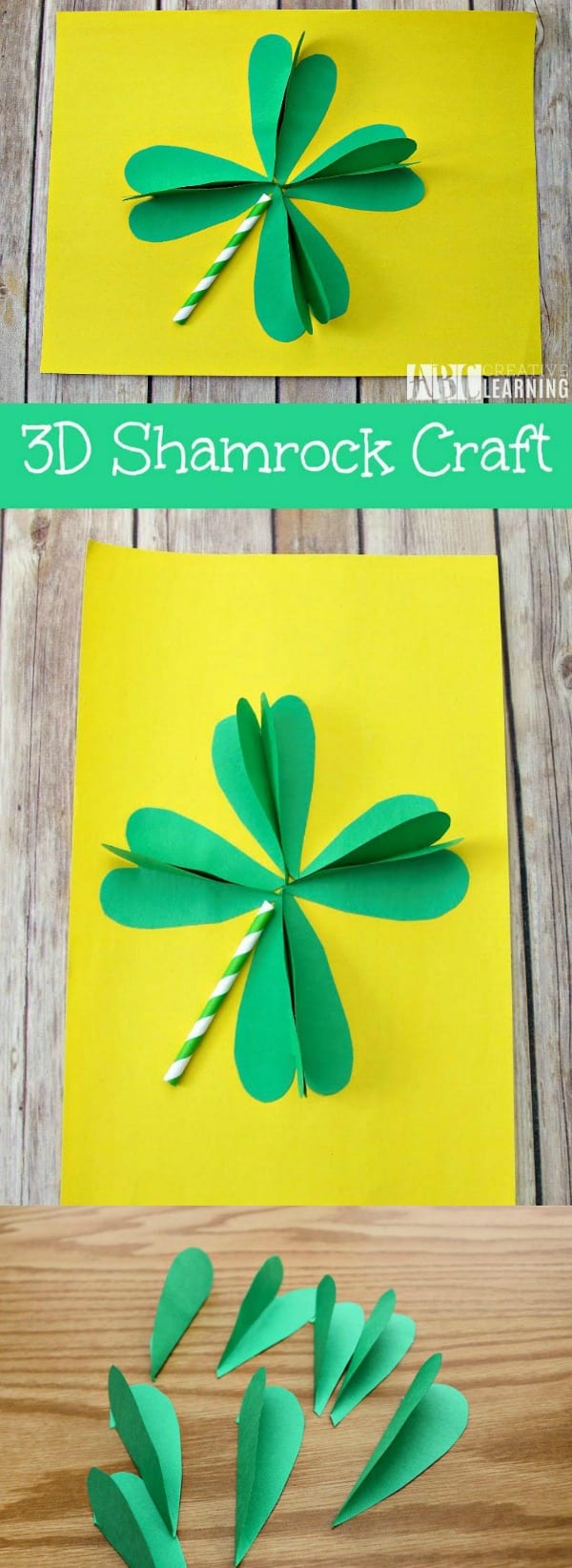 3D Shamrock Craft for St. Patrick's Day