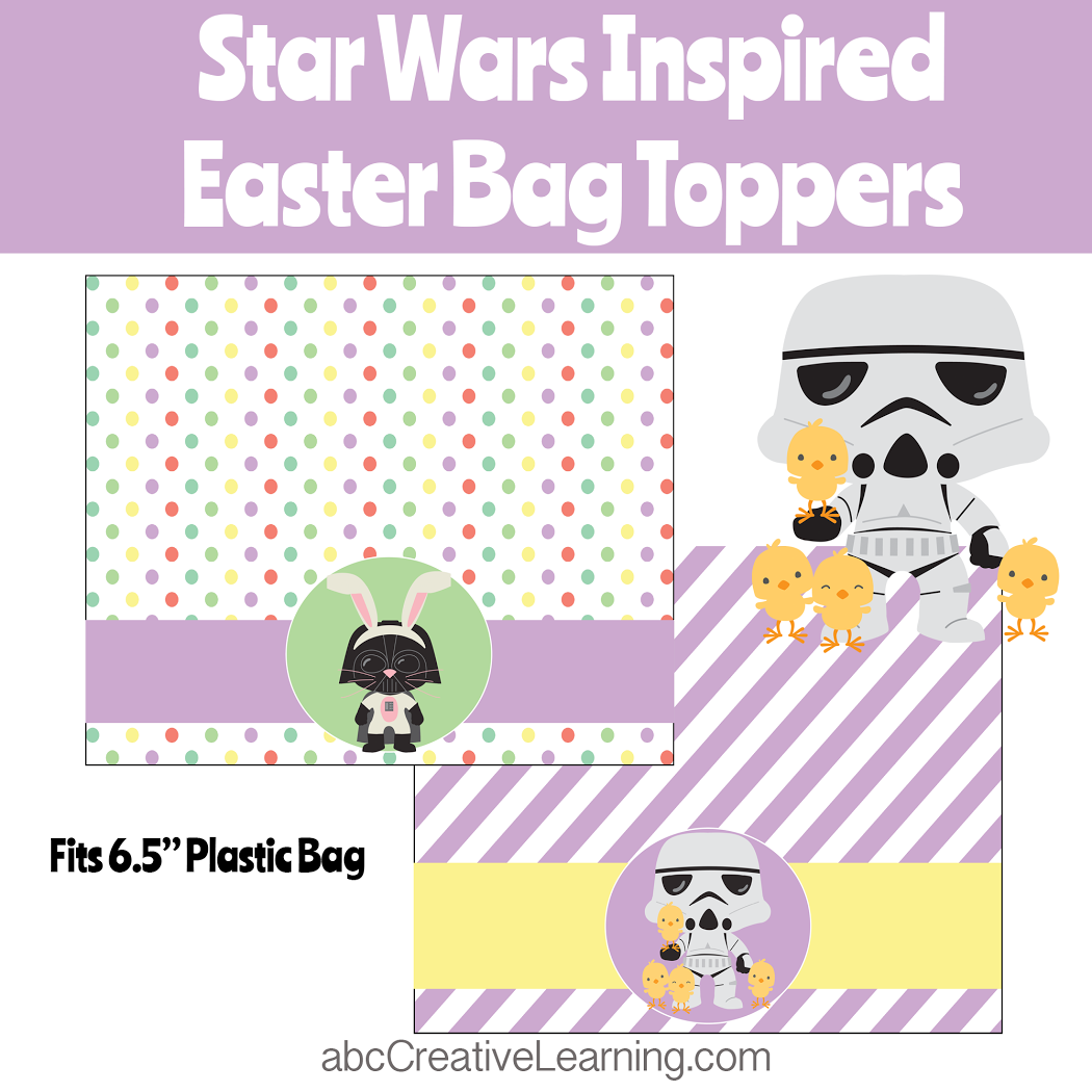 Star Wars Inspired Easter Bag Toppers