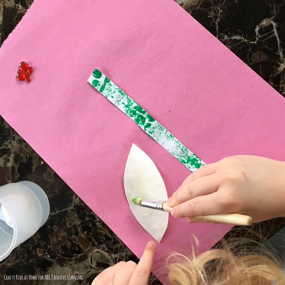 Bubble Wrap Flower Craft 2