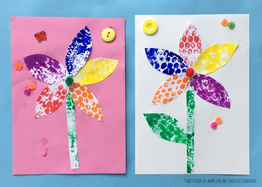 Bubble Wrap Flower Craft 3