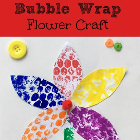 Bubble Wrap Flower Craft