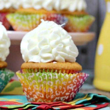 Orange Cupcake with Vanilla Coconut Frosting