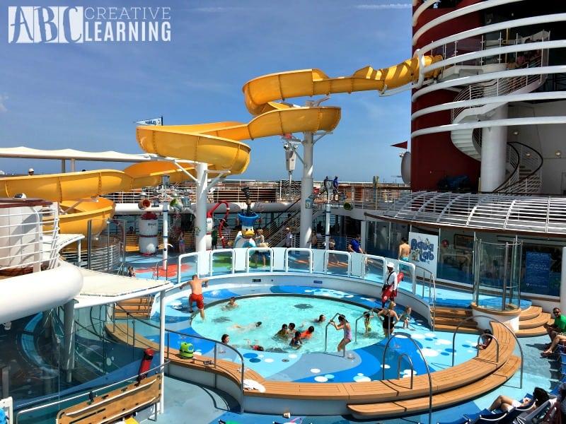 Disney Magic Cruise Ship - Family Bucket List pool kids