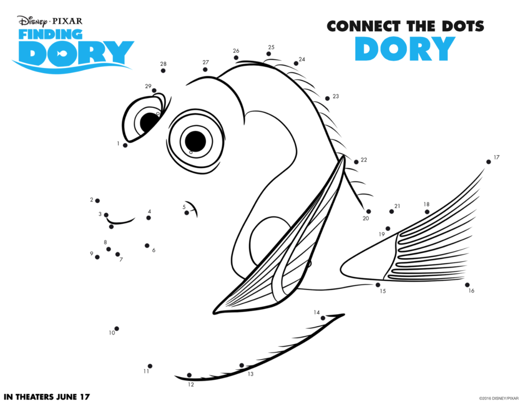 Finding Dory Coloring Sheets #FindingDory #HaveYouSeenHer Dots