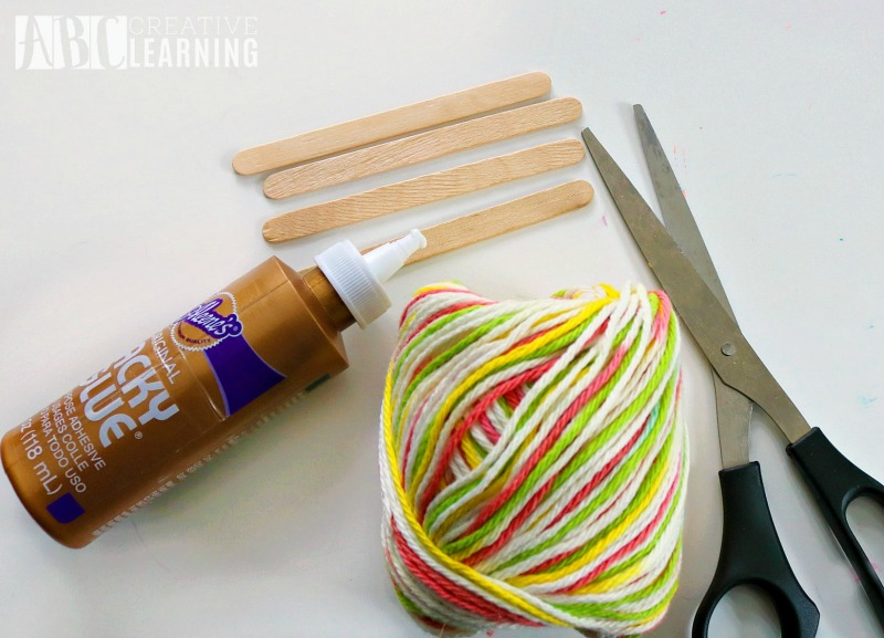 Mother's Day Gift Idea Weaved Bookmark Craft materials
