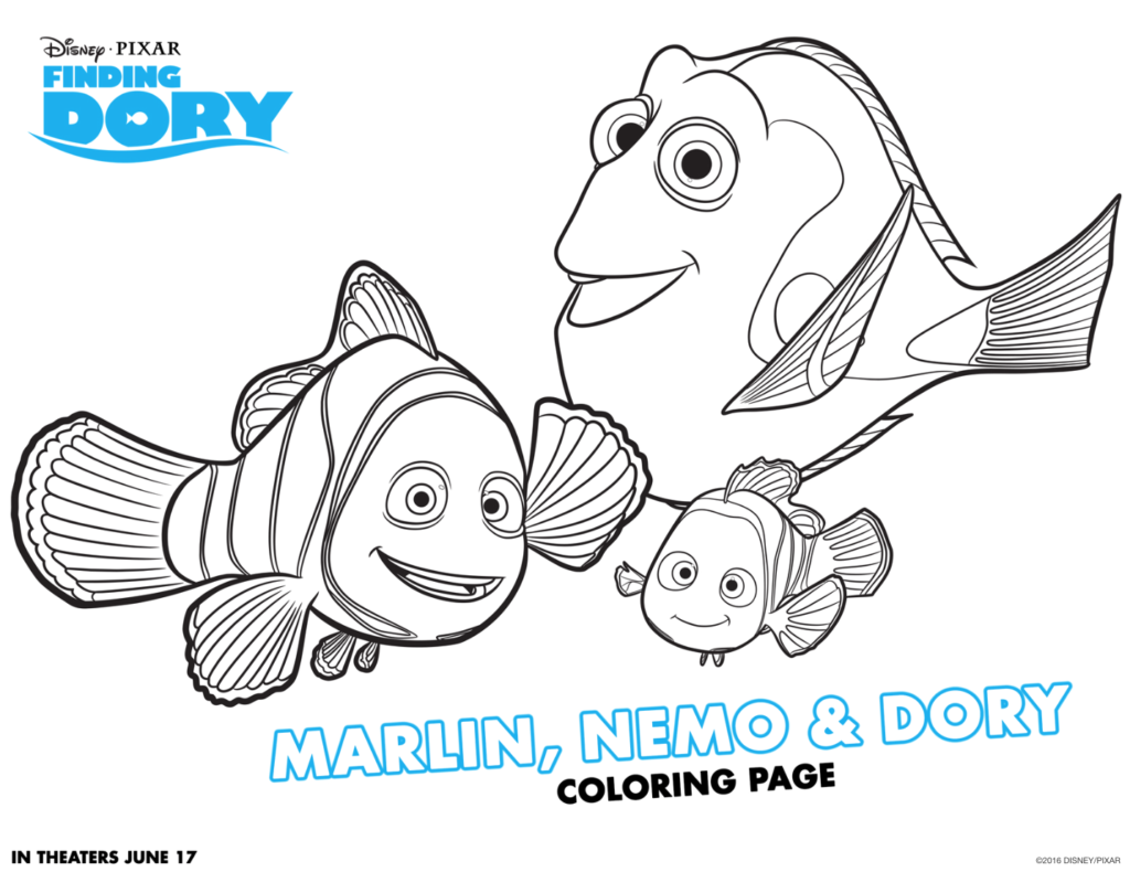 Finding Dory Coloring Sheets #FindingDory #HaveYouSeenHer Coloring