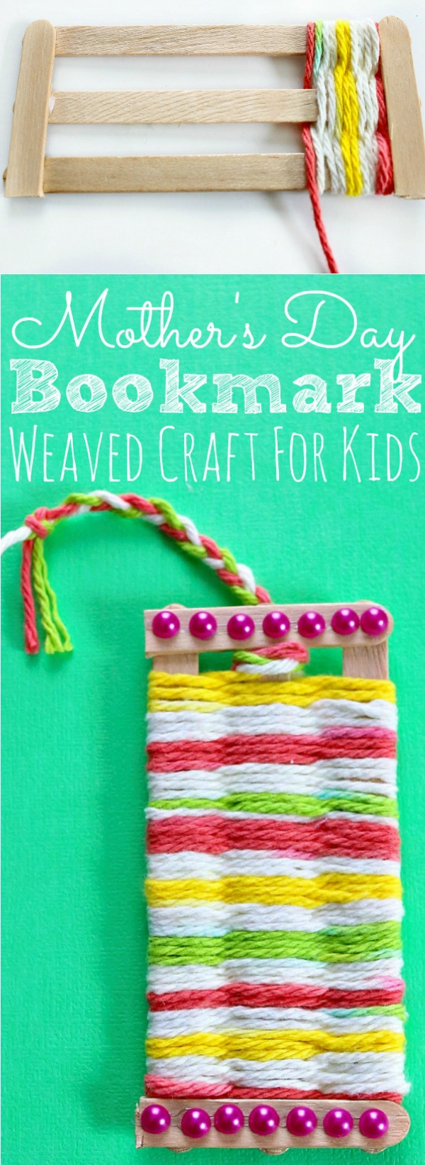 Weaving Bookmark Craft For Kids