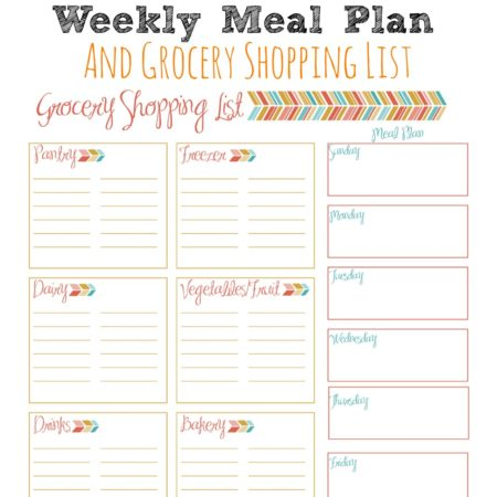 Weekly Meal Planner and Grocery Shopping List