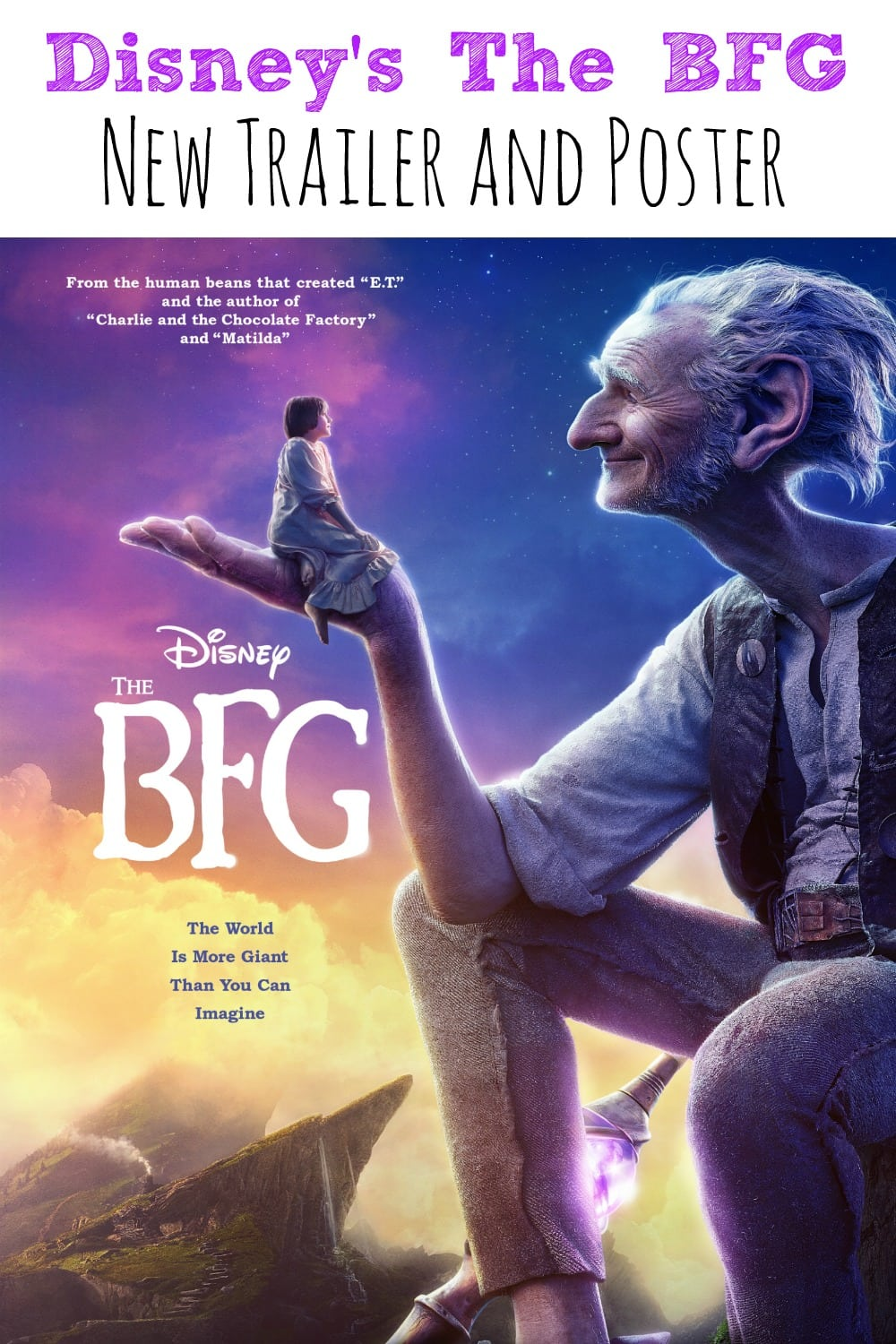 Disney's the BFG Post and Trailer