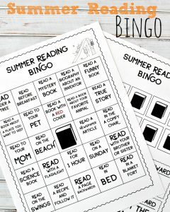 FREE Summer Reading Bingo