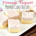 Frozen Yogurt Pound Cake Recipe + Paypal Giveaway