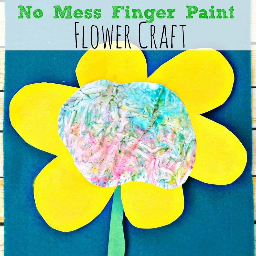 No Mess Finger Paint Flower Craft Simply Today Life