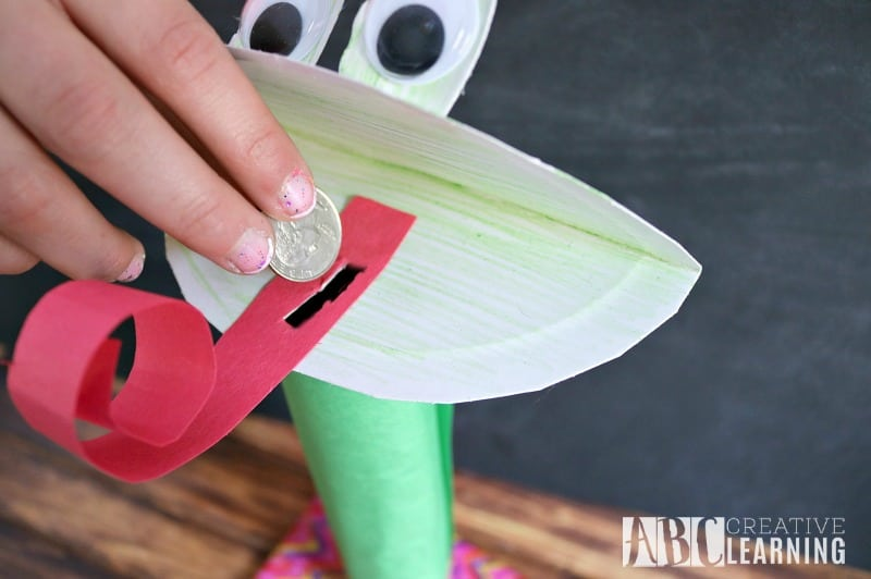Paper Plate Frog Coin Bank 4