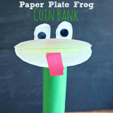 Paper Plate Frog Coin Bank