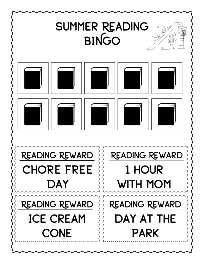 FREE Summer Reading Bingo Rewards