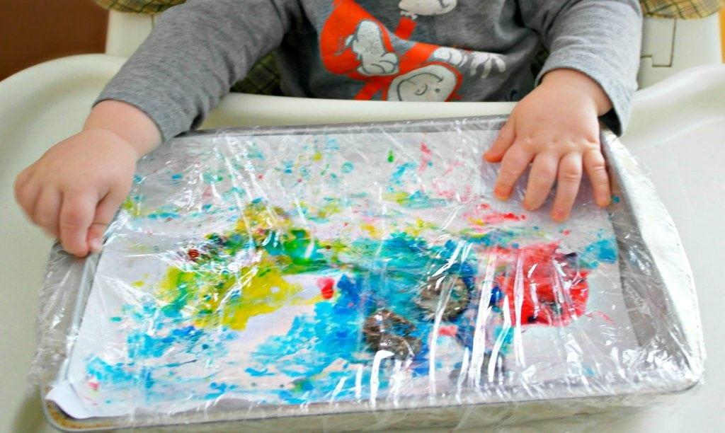 No Mess Finger Paint Flower Craft