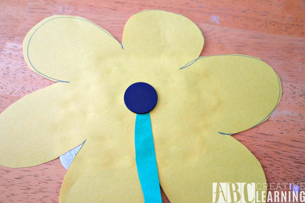 No Mess Finger Paint Flower Craft